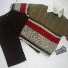 BOYZ By NANNETTE Boy's 12 Months Dress Shirt, Sweater, Corduroy Pants Set