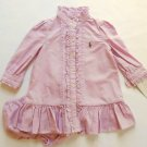 RALPH LAUREN Girl's 6 Months Pink Mauve Button-Down Dress Set