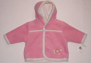 BABY UR IT Girl's 3-6 Months Pink Faux Sherpa Fleece Hooded Jacket, Coat