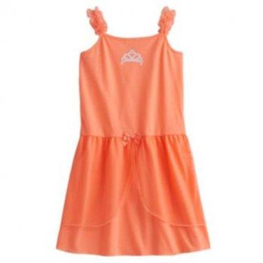 CARTER'S Girl's Size 4-5 Peach Princess Tiara Tulle Nightgown, Pajama