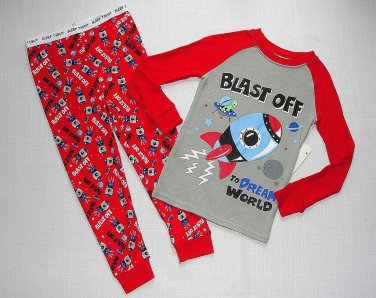 GARANIMALS Boy's 4T SPACE SHUTTLE SHIP Blast Off Pajama Pants Set