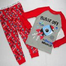 GARANIMALS Boy's 3T SPACE SHUTTLE SHIP Blast Off Pajama Pants Set