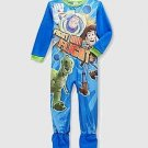 DISNEY TOY STORY BUZZ, WOODY and REX Boy's 4T Fleece Footed Pajama Sleeper, NEW