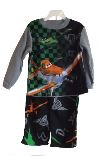 DISNEY PLANES DUSTY And RIPSLINGER Boy's Size 6 Fleece Pajama Set