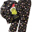 DR. SEUSS THE GRINCH Boy's Size 4 Flannel Coat Pajama Set