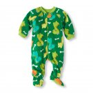 THE CHILDREN'S PLACE Boy's 2T DINOSAUR Fleece Footed Pajama Sleeper