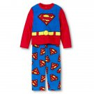 SUPERMAN Boy's Size 8 Fleece Pajama Pants Set, NEW