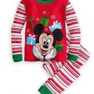 DISNEY MICKEY MOUSE Size 4 Christmas Presents Holiday Pajama Pants Set, NEW