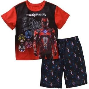 POWER RANGERS Dino Boy's Size 6/7, 8 OR 10/12 Pajama Shorts Set