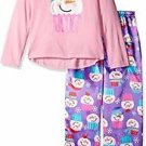 Girl's Size 4/5, 6/6X OR 7/8 Cupcake Snowman Satin Pj Pants Pajama Set