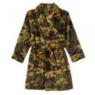 Boy's Size 8-10 Fleece Camouflage Robe, Bathrobe