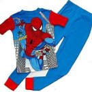 SPIDER-MAN Boy's Size 8 Blue Web-Slinger Pajama Pants Set, NEW