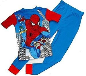 SPIDER-MAN Boy's Size 8 Blue Web-Slinger Pajama Pants Set, NEW