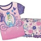 Disney Princesses Girl's Size 6/6X Cinderella Pajama Shorts Set
