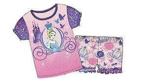 Disney Princesses Girl's Size 6/6X Cinderella Pajama Shorts Set