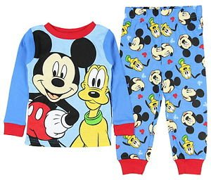 MICKEY AND PLUTO Boy's 2T, 4T OR 5T Cotton Pajama Pants Set