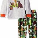 Toddler Boy's Size 3T OR 4T Camping Wildlife Jersey Pajama Set