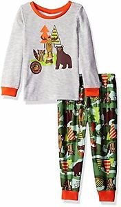 Toddler Boy's Size 3T OR 4T Camping Wildlife Jersey Pajama Set