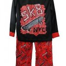 Boy's Size 8 New York City Sk8 Skateboard Flannel Pajama Pants Set