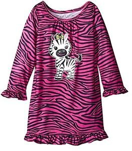 Toddler Girl's Size 3T OR 4T Purple Zebra Print Polyester Nightgown, Gown