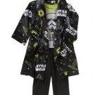 Star Wars Boy's Size 5T Fleece Bathrobe, Robe and Pajama Set