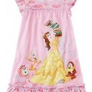 Disney Beauty and The Beast Belle, Chip Potts Size 4, 5/6 OR 7/8 Pink Nightgown
