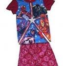 Marvel Boy's Size 4/5, 6/7 OR 8 Superheroes Spidey, Avengers Pajama Shorts Set