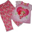 STRAWBERRY SHORTCAKE Girl's Size 3T OR 4T Heart Pajama Set