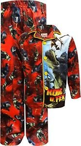 KONG KING OF THE APES Boy's Size 8 Flannel Pajama Set