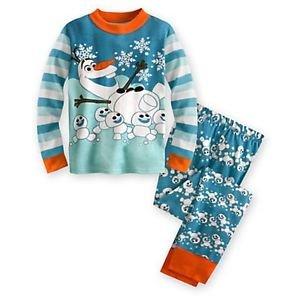 DISNEY FROZEN OLAF Size 3, 4, 5 OR 6 Snowman Winter Cotton Pajama Pants Set
