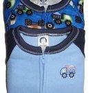 Boy's Size 3T Construction Dumptruck Set of 2 Fleece Footed Blanket Pajama Sleep