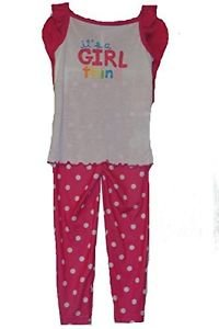 CARTER'S Girl's Size 4 3-Piece Pink Dot Pajama Set with Butterfly Wings