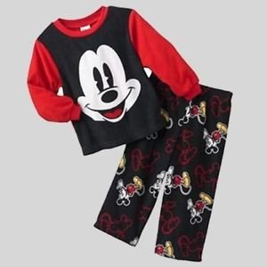 DISNEY Boy's Size 3T MICKEY MOUSE Fleece Pajama Pants Set,