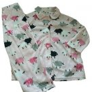 Karen Neuburger Girl's Size 2T-3T Pink Sheep Brushed Fleece Pajama Set