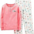 Carter's Girl's Size 5 Desserts Cotton Pajama Top Fleece PJ Pants Set