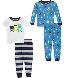 CARTER'S Boy's 3T 4-Piece Alien MONSTERS Cotton Pajama Set