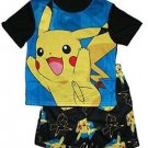 Pokemon Boy's Size 4 Pikachu Pajama Shorts Set