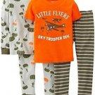 Carter's Boy's Size 5T Little Flyers Plane Troops 4-Piece Cotton Pajama Set