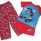 MICKEY MOUSE Toddler Boy's Size 4T 3-Piece SKATEBOARDING Pajama Pants Set