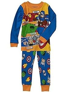 MARVEL AVENGERS Boy's Size 5T Cotton Pajama Set, Hulk, Thor, Ironman