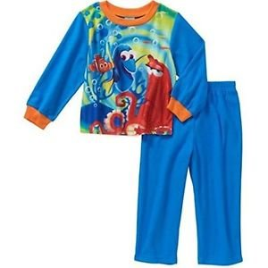 FINDING DORY Boy's 3T Flannel Hank, Nemo Pajama Set