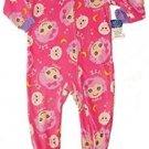 LALALOOPSY Girl's Size 4T Fleece Pajama Blanket Footed Sleeper