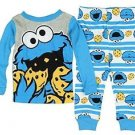 Sesame Street Baby Boys' 12 Months Cookie Monster Striped Pajama Set