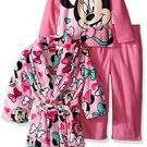 MINNIE MOUSE Girl's 3T, 4T OR 5T Plush Fleece Robe and Pajama Set