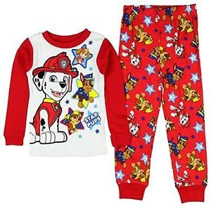 Paw Patrol Boy's Size 3T OR 5T Marshall, Chase and Rubble Pajama Set