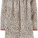 CARTER'S Girl's Size 4-5 Tan Cheetah Print Fleece Nightgown, Gown