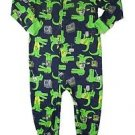 CARTER'S Boy's Size 4T Blue ALLIGATOR GATOR Rock Band Pajama Sleeper