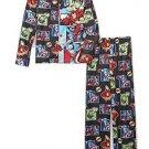Marvel Avengers Boy's Size 8 Flannel Pajama Set, Thor, Hulk, Ironman