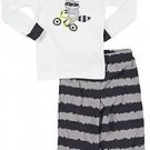 CARTER'S Boy's 3T Biker Raccoon Cotton Fleece Pajama Pants Set