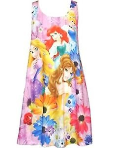 Princess Belle, Cinderella, Rapunzel, Ariel 6/6X Tank Nightgown, Pajama Gown